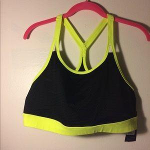Neon sports bra